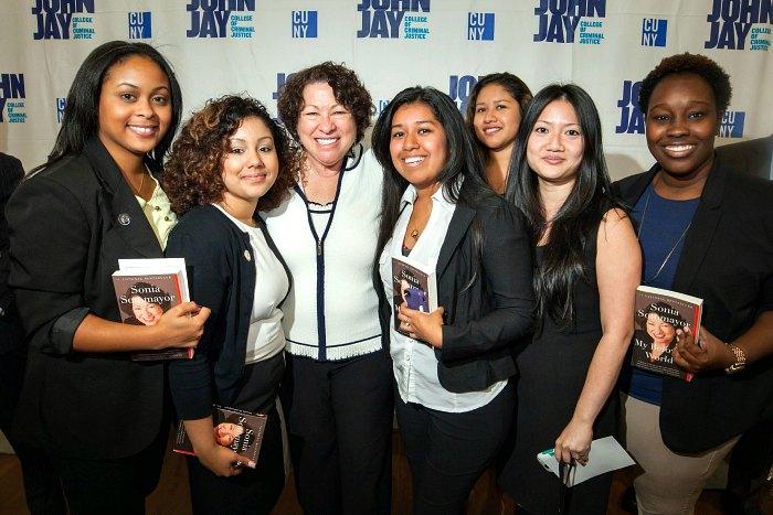 Professor Sotomayor and Associate Director, Nancy Yang, with Adelante! students