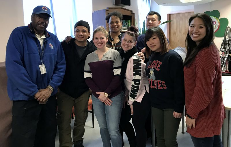 John Jay veteran students on a service trip to the Veterans' Home at St. Albans.