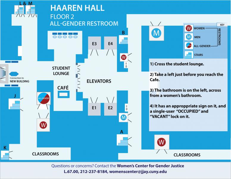 Bathroom Sign Location all- gender facilities at john jay college - john jay college of