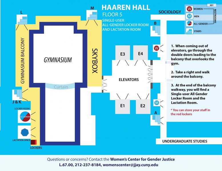 Haaren Hall, All Gender Locker Room & Lactation Room