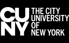 CUNY logo with white text
