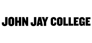 John Jay and CUNY logo with text White