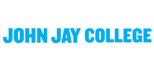 John Jay and CUNY logo with text Black