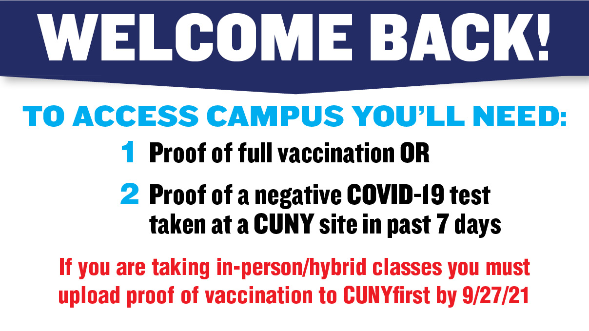 Wecome back and what to do to access campus