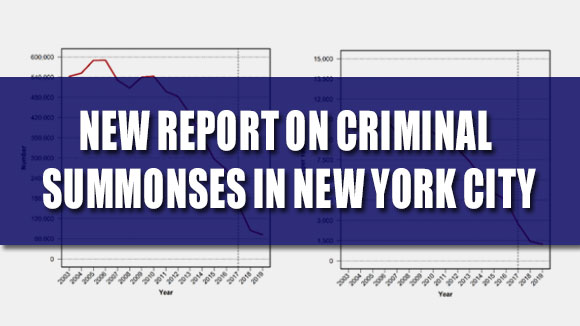 New Report on Criminal Summonses in New York City