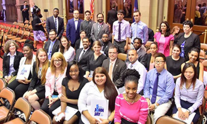 John Jay Science & Math Students' Prism Research Showcased At New York State Capitol