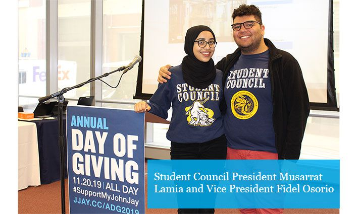 John Jay's 2019 Annual Day of Giving Raises Over $140,000 for Student Emergency Fund