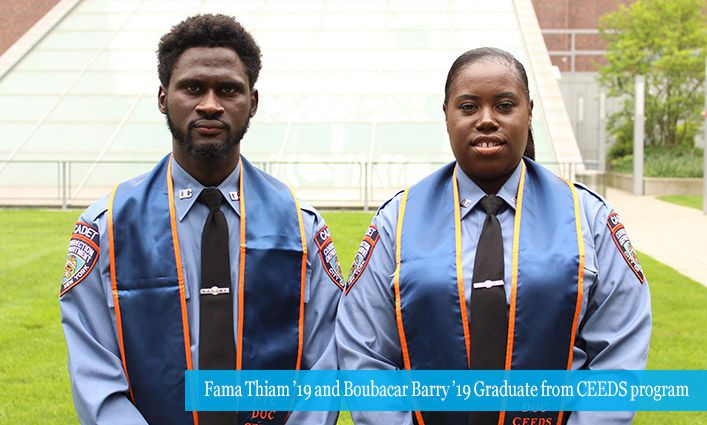 NYC DOC CEEDS Cadets Fama Thiam and Boubacar Barry on the road to becoming NYC Correction Officers
