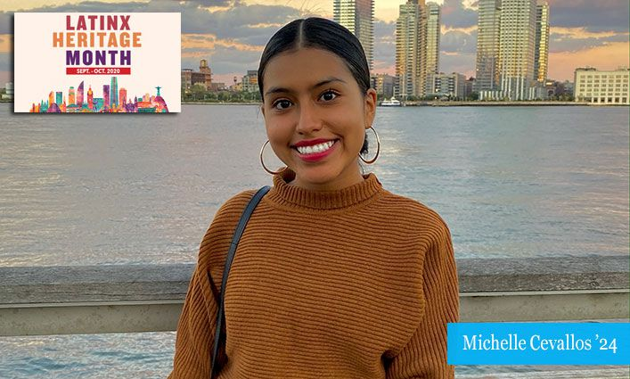 Latinx Celebration: Michelle Cevallos '24 Encourages Latinx Communities to Use their Voices and Vote