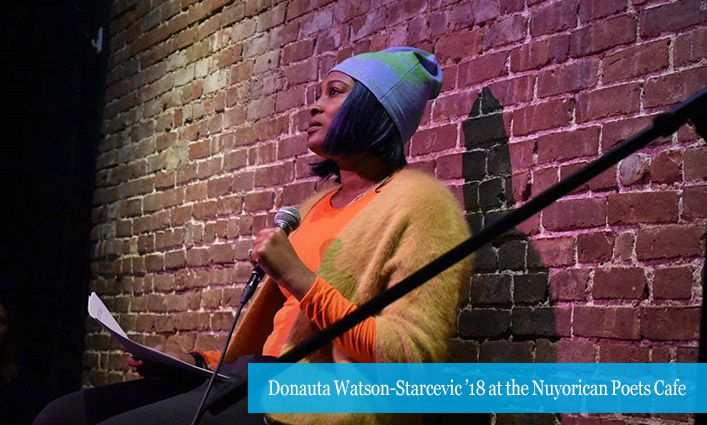 DONAUTA WATSON-STARCEVIC '18 HELPS RAISE THE VOICE OF THE