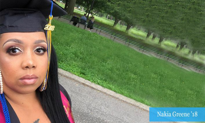 Alumna Nakia Greene '18 Reflects on Her Journey to Academic Excellence and a Career with the Institute for Justice and Opportunity