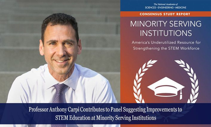 Prof. Anthony Carpi, Helping Minority Students Become Tomorrow's STEM Leaders