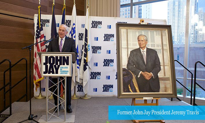 """Former President Jeremy Travis Honored with a Portrait for the """"Hall of Presidents"""""""