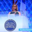 President Karol V. Mason Receives the Ellis Island Medal of Honor
