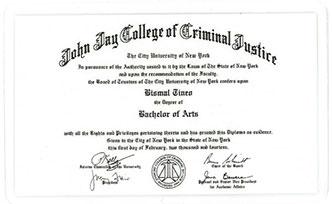 Sample of Mini-Diploma Alumni Card