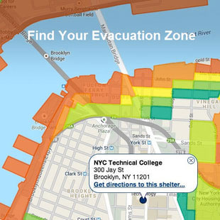 Map of Find your Evacuation Zone