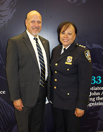 Diego Redondo, Director Department of Public Safety with Chief Nilda Hoffman