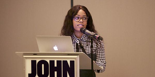 Andrene Wright during her presentation