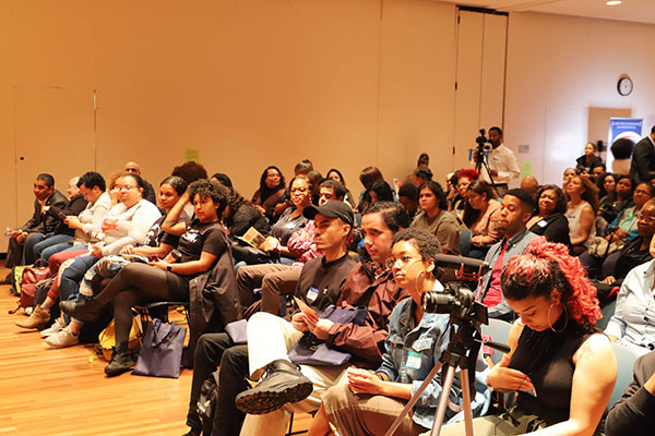 Attendees at Domincanish, the Dominican Writers Association's first annual Dominican Writers Conference