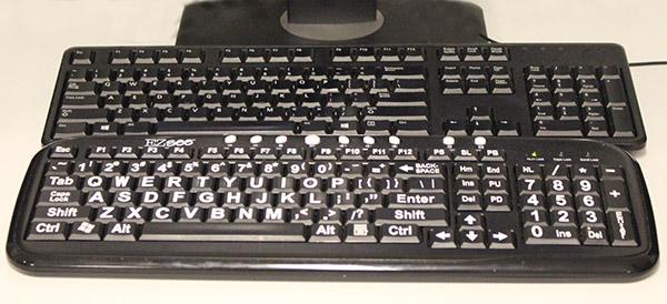 The EZ See large print keyboard
