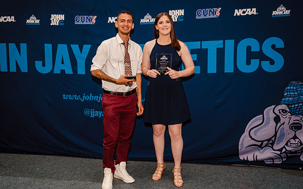 Rookie of the Year winners Alejandro Gallardo and Katie Healy