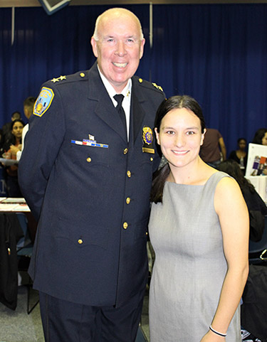 Denis McGowan with Rachel Love '20, Recruitment Assistant, NYC Department of Buildings