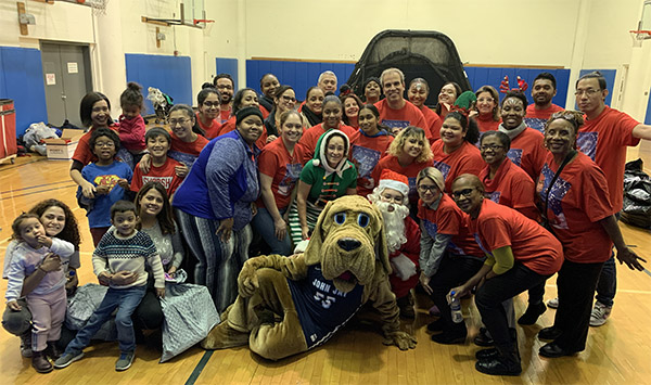 Group of volunteers at the Children's Holiday Party