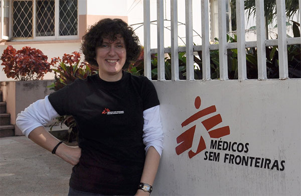 Corthals working with Doctors Without Borders