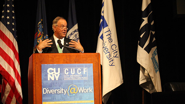Félix V. Matos Rodríguez, CUNY Chancellor connecting with the audience