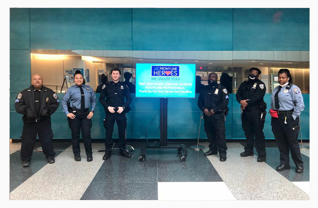 John Jay College community salutes our public safety team