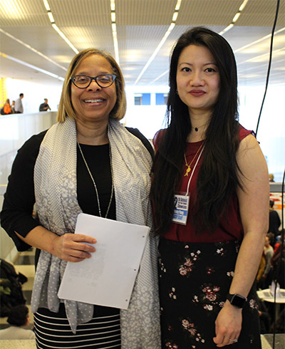 resident Mason with Nancy Yang, Associate Director for First Year Programs