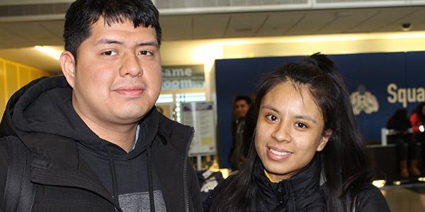 Enrique Ruiz and Analie Amigun