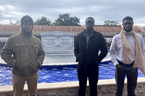 (left to right) Smith, François, and Boodha at The King Center in Atlanta