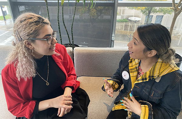 Honors student Maryam Salmanova '21 with Vivianna Rodriguez, Advocate Outreach Paralegal at the Southern Poverty Law Center