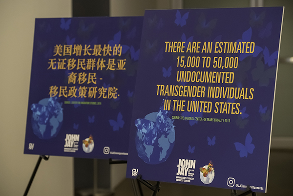 Powerful immigrant facts that were placed around the room