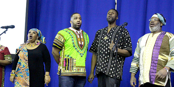"East Coast Inspiration singing the Black National Anthem ""Lift Every Voice And Sing"""