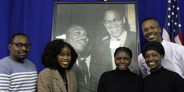 John Jay students keeping the spirit of Dr. Martin Luther King, Jr., and Malcolm X alive