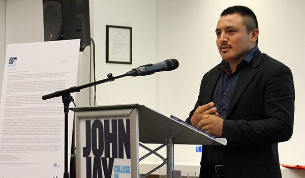 Julio Olmedo '17 telling his story