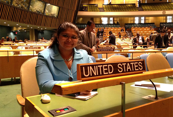 Saxena during her internship at the United Nations Management Reform office at the USUN