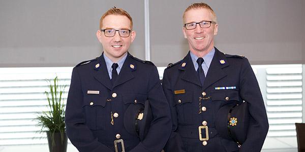 Garda Edward Henderson and Sergeant Declan J. Egan