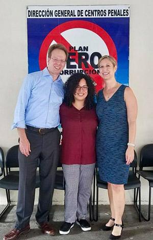 Jeff Mellow, Lidia Vásquez, and Deborah Koetzle in El Salvador
