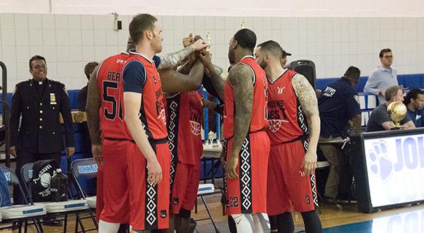 Brooklyn Finest in a team huddle