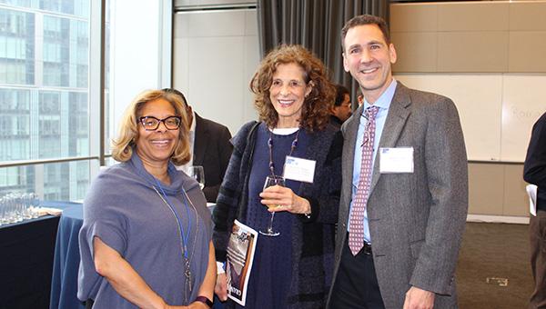 President Karol V. Mason, Marjorie Singer, Executive Counsel, and Anthony Carpi