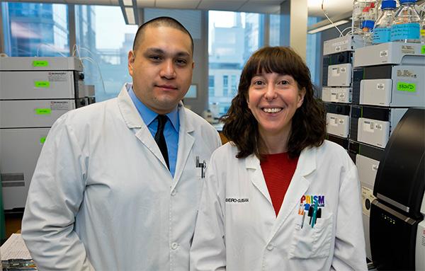 Ocampo with his mentor Professor Marta Concheiro-Guisan