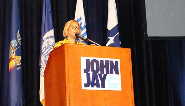 Karol V. Mason as she discusses the importance of uniting for criminal justice reform