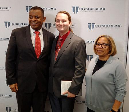 Waitkus (center) with Foxx and Karol V. Mason, President of John Jay College