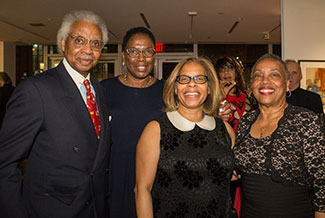 President Mason with supporters at the President's Holiday Reception 2017
