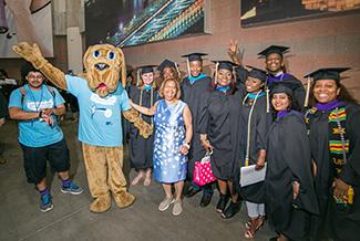 President Mason moments before the 2018 Graduation Ceremony