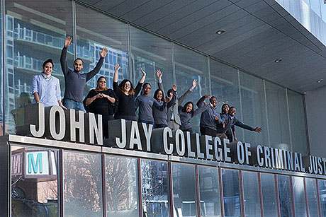 students at the John Jay logo