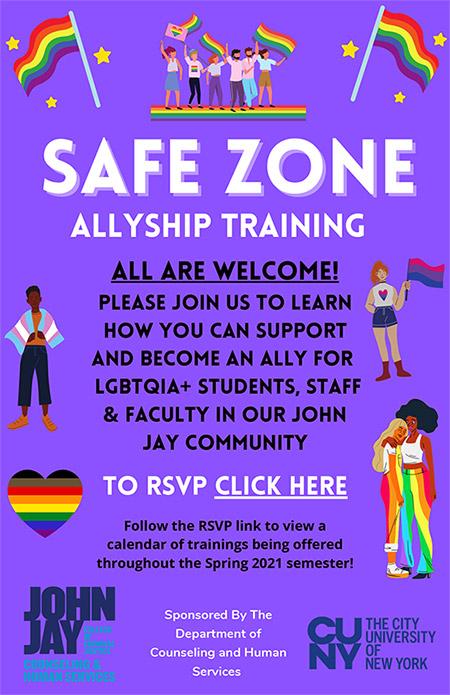 Safe Zone Training Flyer